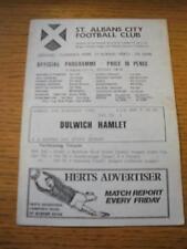 01/02/1982 St. Albans City V Dulwich Hamlet [FA Trophy REPLAY] (légère marqué). N