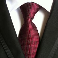 19 COLOR Classic Mens Ties 100% Silk Necktie Plaids Polka Dot Woven JACQUARD Tie
