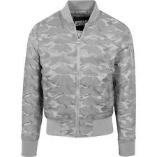 Urban Classics-tonos camo Bomber chaqueta gris Stone