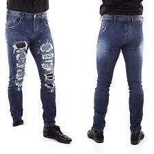 Jeans Uomo Slim Fit Pantaloni Tuta per Giacca Camicia Cardigan elasticizzato k17