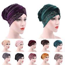 Women Lady Chiffon Ruffle Cancer Chemo Hat Beanie Scarf Turban Head Wrap Cap New