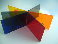 PLEXIGLAS® durchsichtig Blau Braun Gelb Grau Orange Rot Acryglas Deko Garten