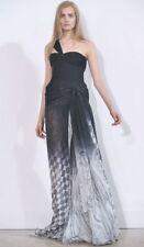 EMILIO PUCCI Black Silk Chiffon Print Bustier Corset One Strap Dress Gown 0 2 4