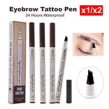 Waterproof Eyebrow Tattoo Pen Fork Tip Patented Micro blading Ink Sketch