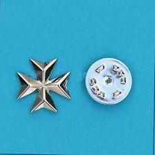 925 Sterling Silver Malta Maltese Cross Lapel Pin