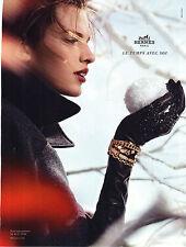 PUBLICITE ADVERTISING  2012   HERMES   bijoux joaillerie bracelets        071212