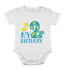 Mon 2e anniversaire nouveau-né body coton pour bébé petit garçon courtes manches