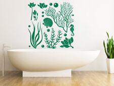 Nautical Wall Decals Marine Life Seaweed Vinyl Sticker Home Decor Bathroom MS556
