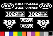 302 CI V8 POWERED 10 DECAL SET 5.0 ENGINE STICKERS EMBLEMS FENDER BADGE DECALS