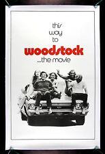 WOODSTOCK * CineMasterpieces ADVANCE 1SH ORIGINAL LINEN BACKED MOVIE POSTER 1970
