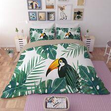3D Black Bird Tree 41 Bed Pillowcases Quilt Duvet Cover Set Single Queen CA