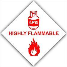 GPL Gas altamente flammable-sticker-car, Van caravan,boat-safety Avvertimento Segno Rosso
