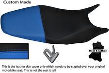 Negro Y Azul Claro Personalizado 98-01 encaja Honda Hornet Cb 600 Doble Cubierta De Asiento