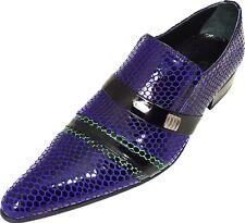 ORIGINALE CHELSY - italien designer mocassins motif filet noir bleu vert