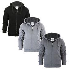 Brave Soul Herren Hoody Kapuzenpullover Sherpa Fleece Gefüttert Kapuzen Jacke Sweat Shirt TOP