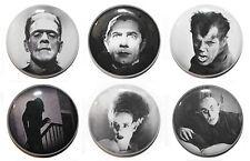 Classic Horror Movie Fridge Magnet Set  - Dracula, Frankenstein, Wolfman - 25mm