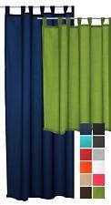 Schlaufenschal Seidenglanz halbtransparent Vorhang Übergardine Schlaufen Gardine