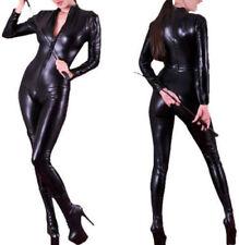 Plus Size S-6XL Leather Gothic Catsuit Bodysuit PVC Jumpsuit  Clubwear Costume