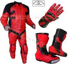 THE 'DEADPOOL' STILE UOMO CE Armatura Rosso/Nero Motocicletta / Giacca Moto &