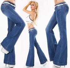Jeans Femmes Pantalon Bootcut coup flarecut patte d'eph continue coup Ceinture 34-42