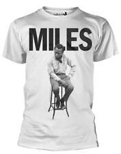 """MILES DAVIS """"seduto su uno sgabello"""" T-Shirt-Nuovo e Ufficiale!"""