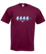 kicker fusball santa claret & blue design herren weinrot t-shirt