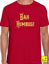 Bah Humbug Christmas Scrooge Novelty T-Shirt Grumpy Xmas Gift Fun Present Tee
