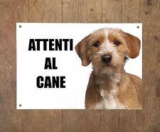 BASSET FAUVE DE BRETAGNE attenti al cane TARGA cartello IN METALLO