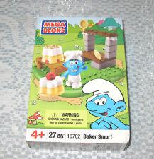 Mega Bloks Baker Smurf Box Set no 10702 MB  FREE SHIPPING