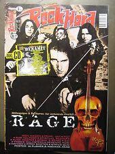 ROCK HARD METAL MAGAZINE 130 - 1998 - RAGE IRON MAIDEN PEARL JAM RIOT ROB HALFOR