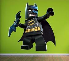 Lego Batman Kinder Superheld Wandkunst Sticker Abziehbild Kinder Voll Farbdruck