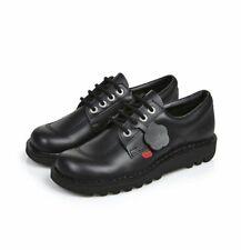 Kickers Kick Lo Core Juniors/Youth unisex Black Leather UK Sizes 4/5/6/6.5/7/8