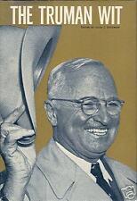 The Truman Wit by Alex J. Goldman (1966) 1st Ed. HCDJ