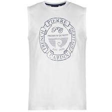 Pierre Cardin Hombre C Estampa Camiseta Top Ropa Vestir Casual Sin Mangas