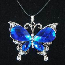 Antik Silber Gold Schmetterling Strass Acryl Kristall Cabochon Lederband Butterf