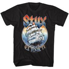 STYX Mens New T-SHIRT MUSIC OFFICIAL '77 US TOUR BLACK Cotton SIZES SM - 5XL