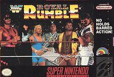 WWF Royal Rumble - Super Nintendo Game SNES 1993 - Box & Manual - WWE Wrestling