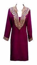 Women's Plum Kurti Indian Tunics kaftan tunic tops sarees kurtis kurta UK 7001