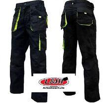 Arbeitshose - Bundhose-Canvas Worker Arbeitskleidung schwarz-grün Größe 42-68