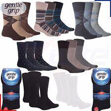 12 Pairs Mens Gentle Cotton Soft Grip Socks Non Elastic Soft Top Diabetic 6-11