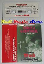 MC SIMON & GARFUNKEL Live in paris 1970 DIZIONARIO ROCK PROMO no cd lp dvd vhs