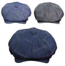 Sombrero de botones de hombre 8 PANEL FLAT CAP Newsboy Baker Boy cheque  Sombrero Tweed pálida Anteojeras a662a588a6c