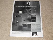 Jbl Nova Speaker Ad, 1969, 1 pg, Article, Beautiful Ad!