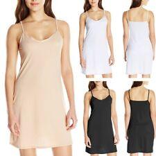 Ladies Plain Cling Resitant Underskirt Anti Static Petticoat Full Slip Black