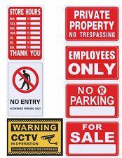 2X video sorveglianza nessuna voce divieto di parcheggio non oltrepassare le ore lavorative Autoadesivo Segno