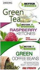 Raspberry Ketone 600mg Green Coffee Bean 6000mg Green Tea 2000mg Strong Diet