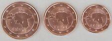 1+2+5 Euro Cent Estland 2011 unz