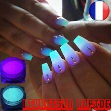 Poudre Phosphore Nail Vernis 10 Couleurs Ongles Lumineux Pigment Fluorescent