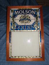 VINTAGE MOLSON GOLDEN CANADA BEER MENU BOARD SIGN
