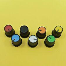 Plastic Potentiometer Push On Knob For 6mm Shaft Hole Caps Rotary Taper